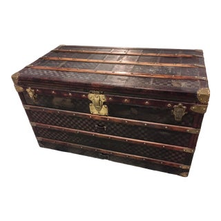 Louis Vuitton Damier Pattern Courier Trunk For Sale