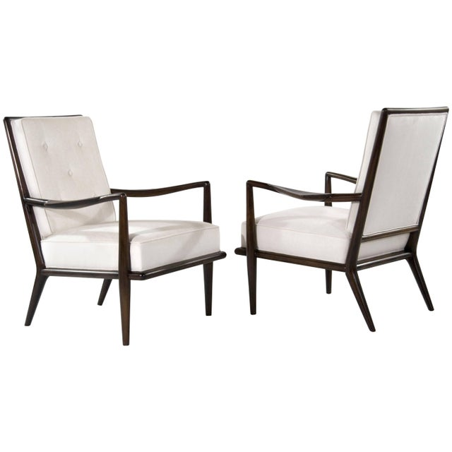 T.H Robsjohn-Gibbings Wing Arm Lounge Chairs - a Pair For Sale - Image 11 of 11