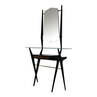 Italian Sculptural Console & Mirror Circa 1955 For Sale