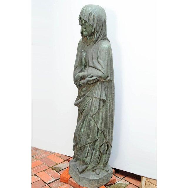 Figurative Bronze Female Statue For Sale - Image 3 of 13