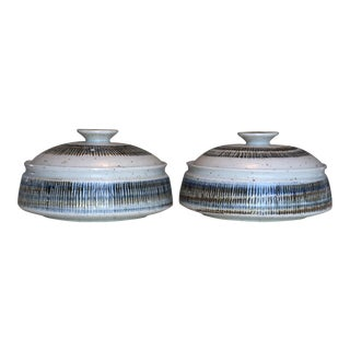 Ceramic Lidded Casserole Dishes - A Pair