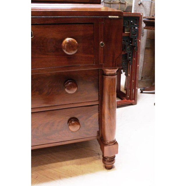Mid 19th Century 19th Century American Empire Gothic Secretary Chest For Sale - Image 5 of 5