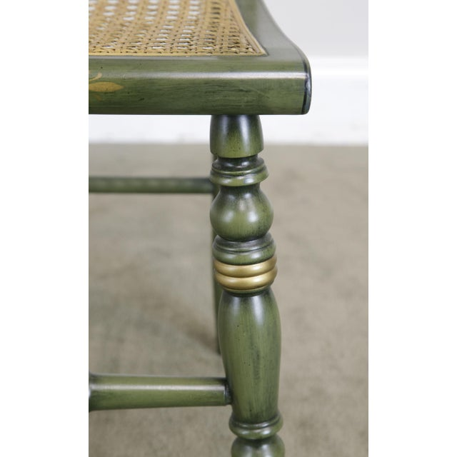 """Green Hitchcock Green Painted """"Thomas Jefferson's Monticello"""" Cane Seat Side Chair (B) For Sale - Image 8 of 13"""