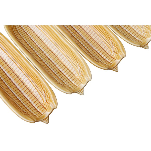 Corn Dishes by Bordallo Pinheiro Pottery of Portugal - Set of 4 For Sale - Image 4 of 6