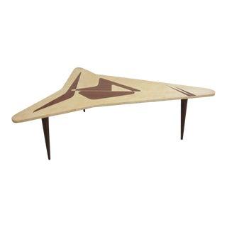 Space Age Mid-Century Mahogany Boomerang Coffee Table