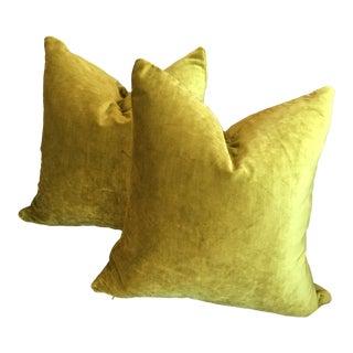 Osborne & Little Viscose Velvet Monceau Pillows - A Pair For Sale