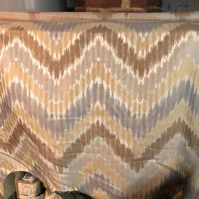 Beautiful piece of neutral fabric with zig-zag pattern Perfect for a small project.