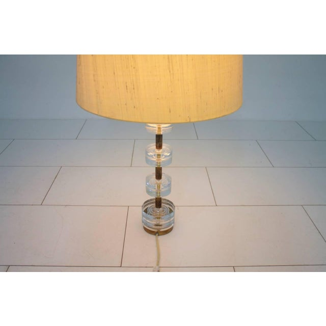 1960s Brass and Glass Table Lamp by Luxus Sweden, Circa 1960s For Sale - Image 5 of 9