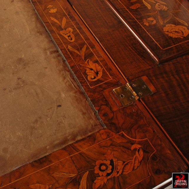 Fine Dutch Marquetry Drop Front Secretary / Desk For Sale - Image 10 of 13