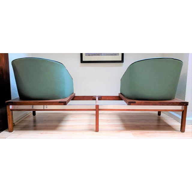Mid-Century Modern 1950s Arthur Umanoff for Madison Furniture Modular Loveseat or Bench With Table For Sale - Image 3 of 13