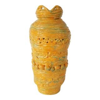 Mid-Century Brutalist Art Pottery Coil Vase . For Sale