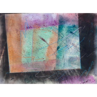 """""""Colors in Geometry"""" Contemporary Abstract Pastel Drawing on Paper by Martha Holden For Sale"""