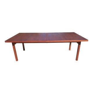 Vintage Danish Modern Extension Teak Table - Seats Up to 12 For Sale
