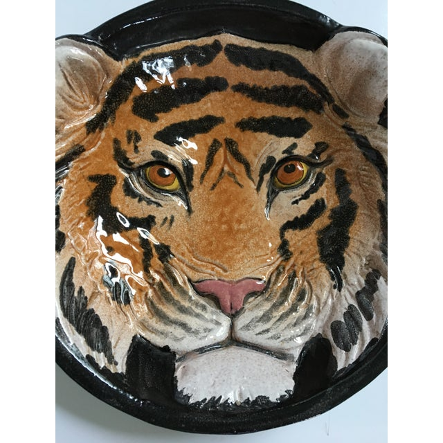 Italian Mid-Century Tiger Face Pottery Bowl/Catchall For Sale - Image 6 of 12