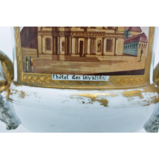 Mid 19th Century Mid 19th Century French Large Paris Porcelain Urn For Sale - Image 5 of 9