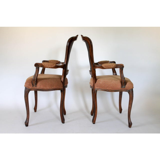 Mid 20th Century Caned Fauteuils, a Pair For Sale - Image 5 of 10