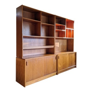 Teak Poul Hundevad Style Danish Modern Cabinets - a Pair For Sale