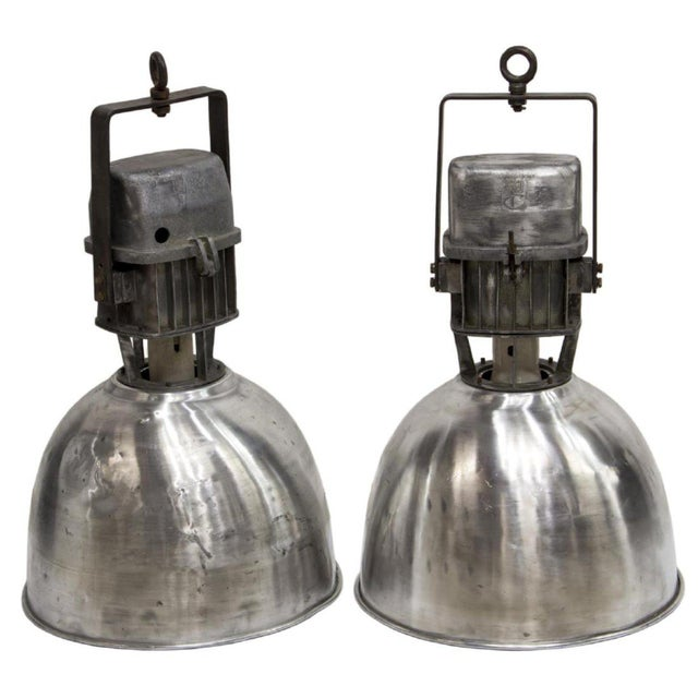 1950s Industrial Aluminum Hanging Pendant Lamps - a Pair For Sale - Image 13 of 13