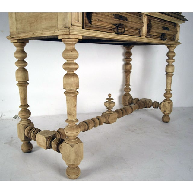 19th French Century Walnut Bleached Wood Cabinet - Image 9 of 9
