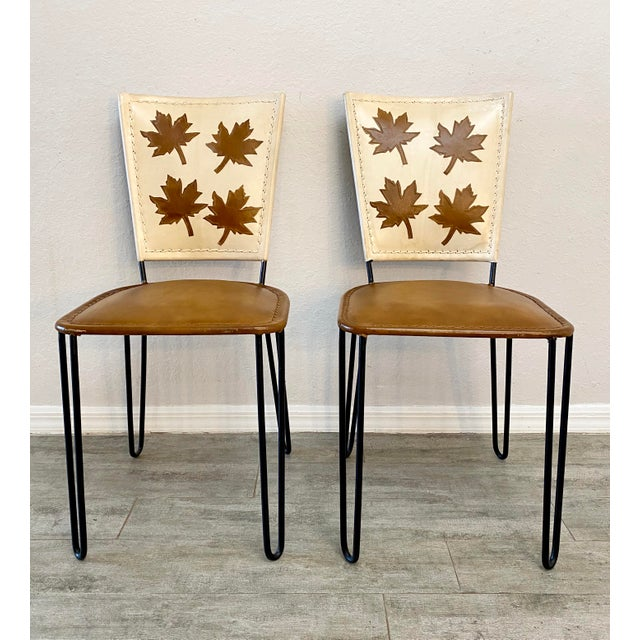 Sienna Pair of Willow Dining Chairs For Sale - Image 8 of 8
