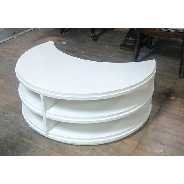 Henredon Furniture White Dove Crescent Occasional Table For Sale In Charlotte - Image 6 of 7