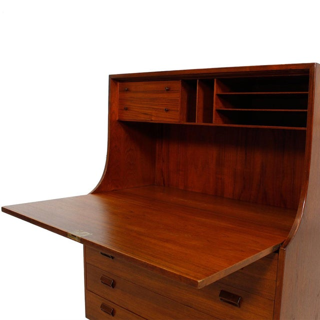 Danish Modern Teak Drop Front Secretary / Desk - Image 2 of 7