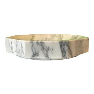 White Marble Hexagonal Bowl