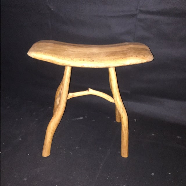 Rustic Natural Oak Small Bench - Image 3 of 6