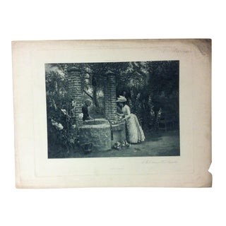 """Antique Photogravure on Paper, """"A Well Between Two Properties"""" from D. Appleton & Co - Circa 1860 For Sale"""