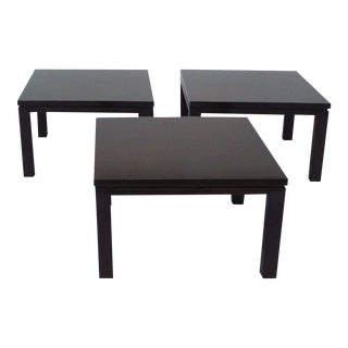 Three-piece Dark Finish Coffee Table For Sale