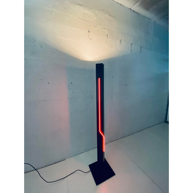 Rudi Stern Postmodern Red Neon Floor Lamp for George Kovacs, 1980s For Sale In Miami - Image 6 of 13