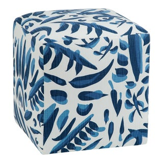 Azur Cube in Lino Cobalt For Sale