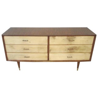 Mid-Century Faux-Painted Parchment Chest For Sale