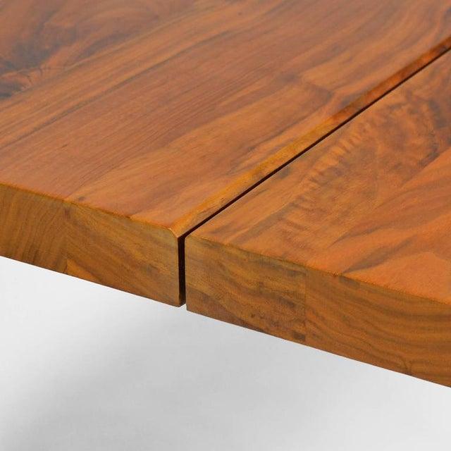 """De La Espada """"Long"""" Table in Black Walnut For Sale - Image 9 of 11"""