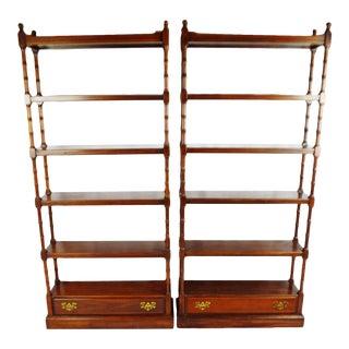 Vintage Ethan Allen Bookshelves - a Pair For Sale