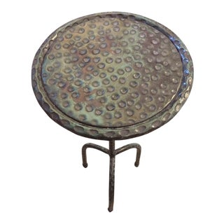 "Verdigris Finish ""Sultan"" Drink Table"