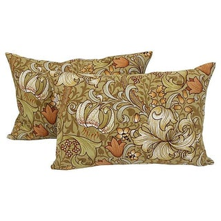 William Morris Lilly Pillows - A Pair