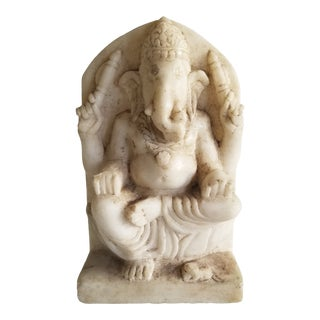 19th Century Marble Ganesh Statue For Sale