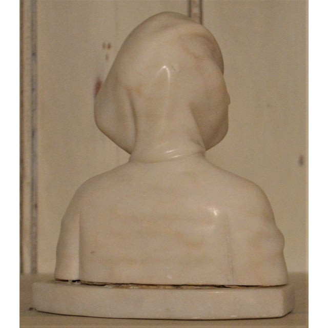 Late 19th Century 19th Century Small Marble Bust of Young Girl For Sale - Image 5 of 8