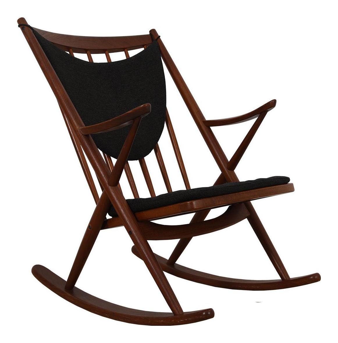 Danish Modern Rocking Chair In Teak By Bramin, Denmark