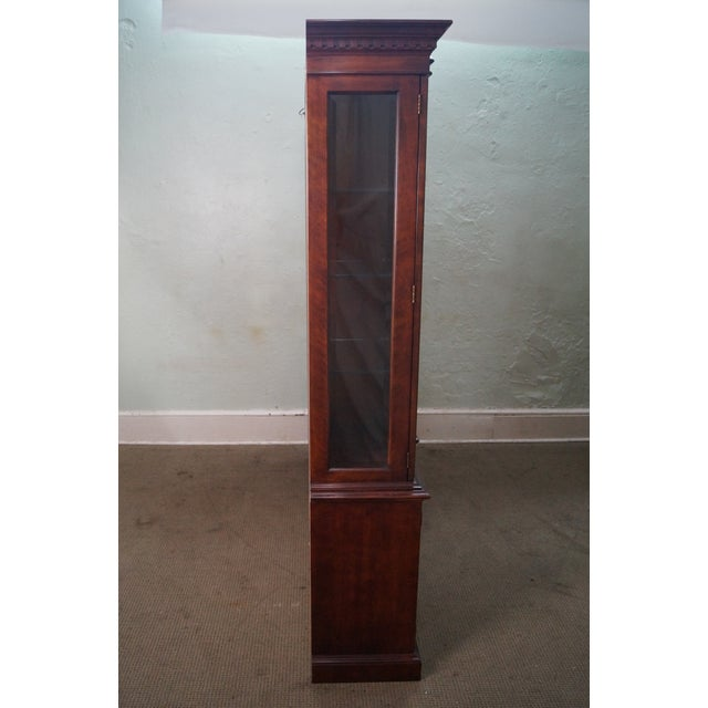 Henredon Chippendale Style Breakfront Cabinet - Image 3 of 10