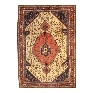 "Pasargad Semi-Antique Persian Shiraz Afshar Lamb's Wool Rug - 8'3"" X 11'6"" For Sale"