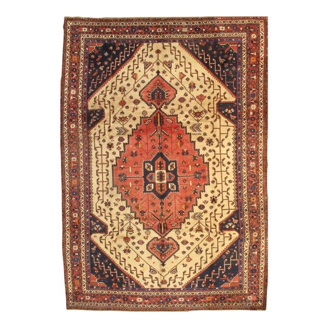 "Pasargad Semi-Antique Persian Shiraz Afshar Lamb's Wool Rug - 8'3"" X 11'6"" For Sale"