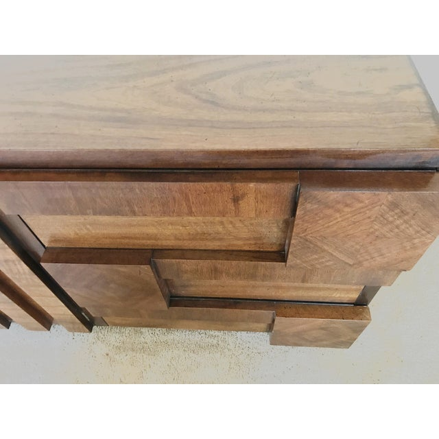 Brutalist 1970s Brutalist Lane 9-Drawer Dresser Credenza For Sale - Image 3 of 11