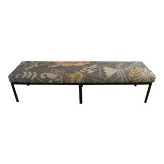 Modern Kilim Metal Bench For Sale