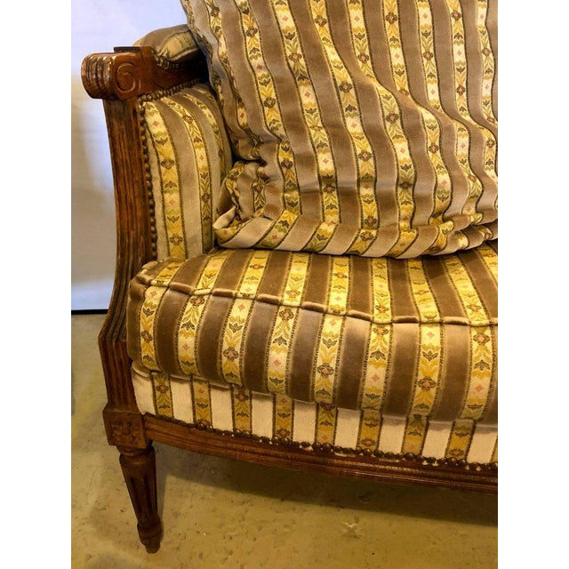 Louis XVI Living Room Suite Couch and Two Lounge Chairs - Set of 3 For Sale - Image 11 of 14
