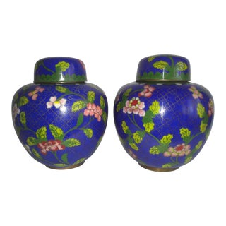 Pair of Early 20th Century Chinese Ginger Jars For Sale