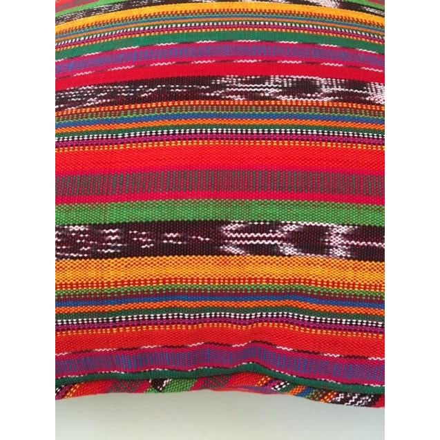 Guatemalan Striped Pillows - A Pair For Sale - Image 4 of 4