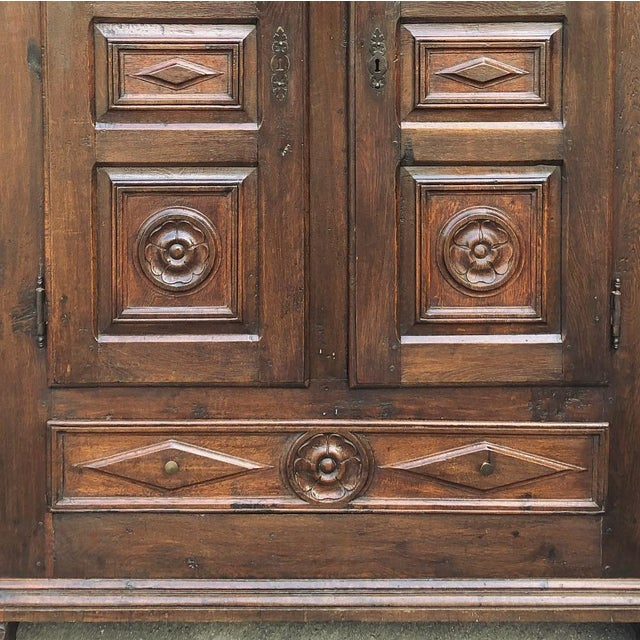 Wood 18th Century Rustic Italian Chestnut Armoire For Sale - Image 7 of 9