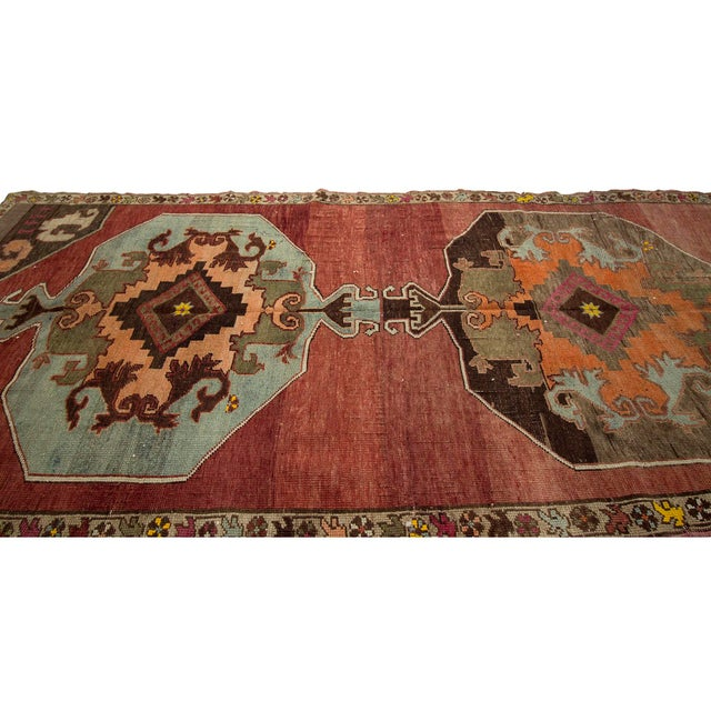 Islamic Vintage One of a Kind Turrkish Wool Rug- 5′8″ × 12′1″ For Sale - Image 3 of 7